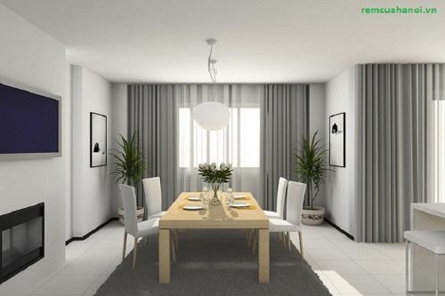 Rèm cửa phòng khách chung cư hiện đại