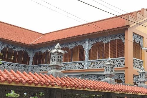 Lắp đặt rèm gỗ chùa Kim Âu xã Đặng Xá huyện Gia Lâm TP Hà Nội