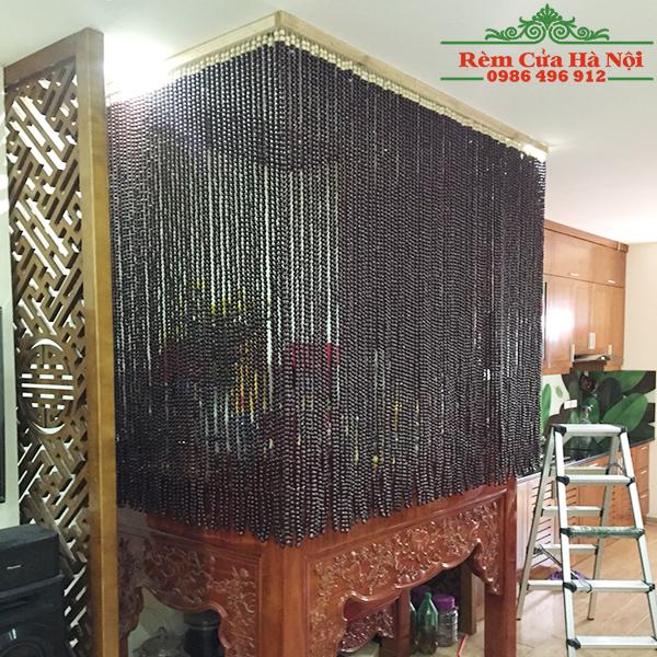 Rèm hạt gỗ che bàn thờ HPT06