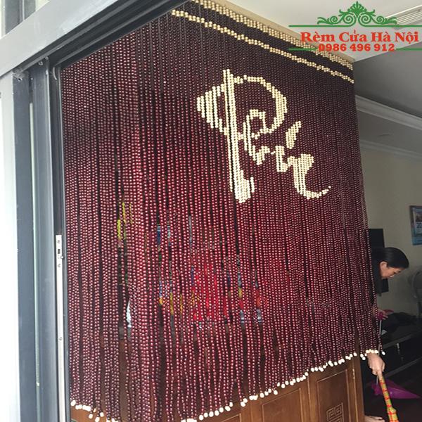 Rèm hạt gỗ che bàn thờ HPT05