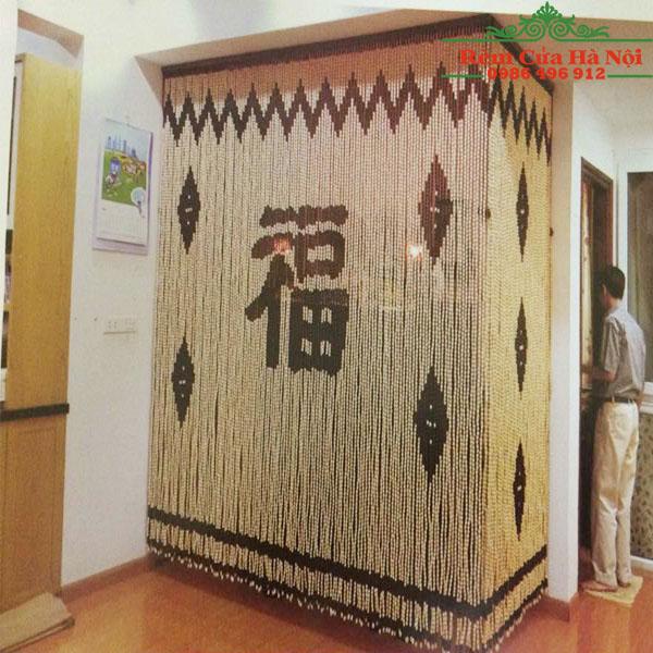 Rèm hạt gỗ che bàn thờ HPT03