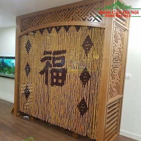 Rèm hạt gỗ che bàn thờ HPT04