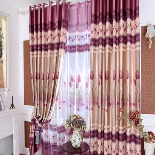 Rèm vải hoạ tiết HT11