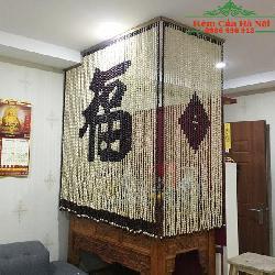 Rèm hạt gỗ che bàn thờ HPT01