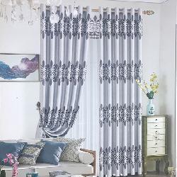 Rèm vải hoạ tiết HT01