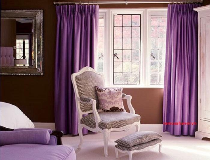 chọn rèm cửa cùng màu tường