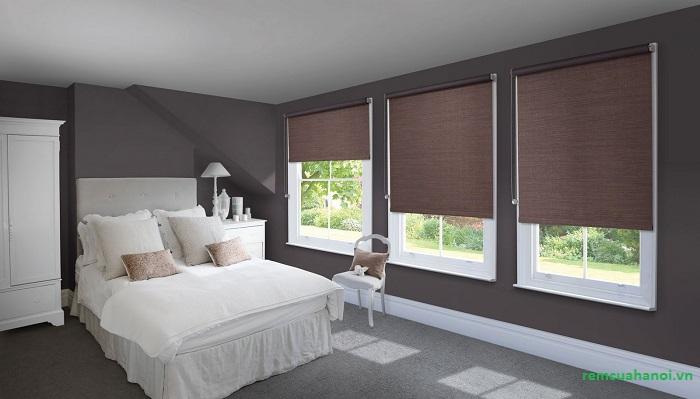 rèm cửa sổ dạng cuốn cho phòng ngủ